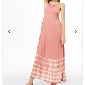 NWT!  Forever 21 XXI coral tie up maxi dress